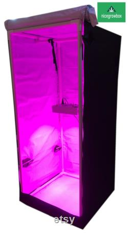 1000W LED Reflective Hydroponics Grow Box Tent Room 30 x30 x70 White KIT