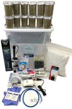 12 Jars Mushroom Growing Kit Ultimate Fast Automated Cultivation equipment