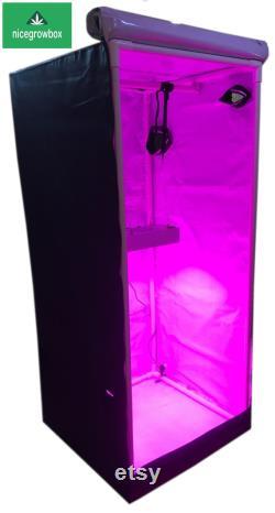 1500W LED Reflective Hydroponics Grow Box Tent Room 48 x48 x80 White KIT