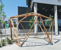 1V Geodesic Dome Hub Brackets DIY Kit Metal Connectors to make Igloo, Greenhouse, Pop Up Canopy