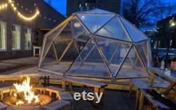 2V Geodesic Dome Hub Brackets DIY Kit Metal Connectors to make Igloo, Greenhouse, Glamping Tent