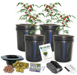 4-site DWC Hydroponic H2OtoGro VENTURI Bubbler Plant Growing Complete Kit