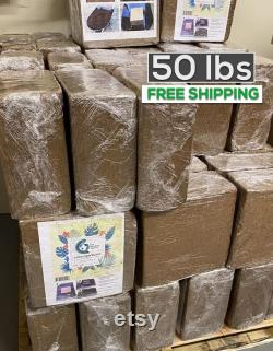 5 Blocks Coco Peat 100 Natural Organic soil Conditioner 50 lbs Free Sam Day Shipping