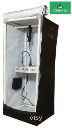 600W LED Reflective Hydroponics Nice Grow Box Tent 16x16x40W in Full set