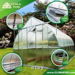 7x14 Growers Greenhouse, ClimaPod Spirit (6-mm twin wall polycarbonate)