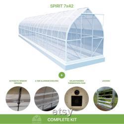7x42 Growers Greenhouse, ClimaPod Spirit (6-mm twin wall polycarbonate)