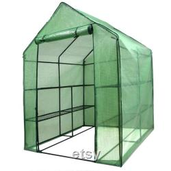 8 Shelves 3 Tiers Greenhouse Portable Mini Walk In Outdoor MINI Planter House