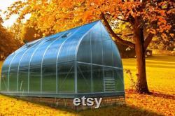 9x14 Growers Greenhouse, ClimaPod Virtue (6-mm twin wall polycarbonate)