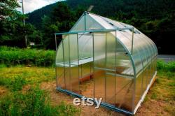 9x21 Heavy Duty Greenhouse kit, ClimaPod Virtue Series (6MM polycarbonate twin wall panels)
