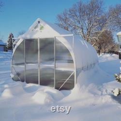 9x42 Heavy Duty Greenhouse kit, ClimaPod Virtue Series (6MM polycarbonate twin wall panels)