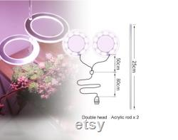 Angel Three Ring Grow Light DC5V USB Phytolamp For Plants Led Full Spectrum Lamp For Indoor Plant