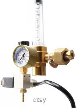 CO2 Regulator Solenoid Flow Meter, 5 meter pipe Hydroponic Grow tent Digital PPM. Set and Forget