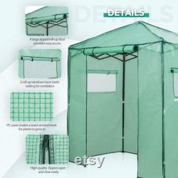 EAGLE PEAK 6 'x 4' Portable Walk-in Greenhouse Instant Pop-up Fast Setup Indoor Outdoor Plant Gardening Green House Canopy