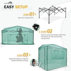 EAGLE PEAK Easy Fast Setup 8'x6' Portable Walk-in Pop-up Greenhouse Canopy