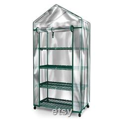 Greenhouse With Wheels 4 Tiers Indoor Outdoor All Season For Plants