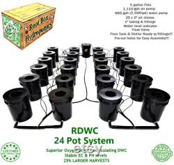 Grow 24 4 Row Recirculating Deep Water Culture RDWC System DWC