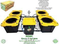 Grow 4 RDWC 12 Gallon Grow Module System Current Recirculating Deep Water Culture RDWC DWC