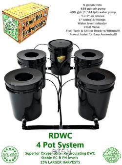 Grow 4 Recirculating Deep Water Culture RDWC System DWC