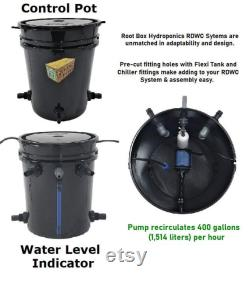 Grow 6 Recirculating Deep Water Culture Hydroponics System DWC