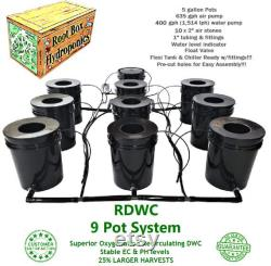 Grow 9 Recirculating Deep Water Culture RDWC System DWC