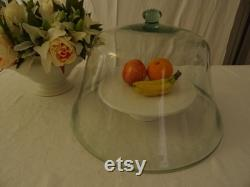 Huge antique glass greenhouse bell, glass dome from France, vintage, decoration