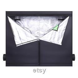 Hydroponic Plant Grow Tent with Window Black