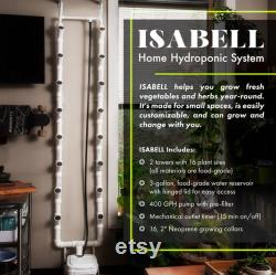 ISABELL Home Hydroponic System 7.5' 16 Plant Sites