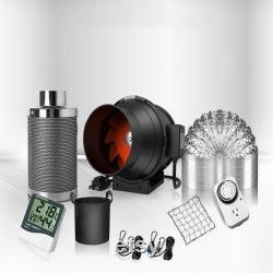 Inline Duct Fan air extractor full kit for grow tent