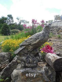 Jim's Otisco Concrete Eagle Statue in Brassy Bronze Finish for Outdoors