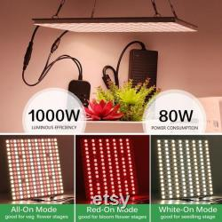 LED Plant Grow Lights Full Spectrum Hydroponic Grow Lights 600with1000W 3 Mode Dimmable