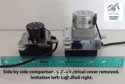Light Rail 4.0 AdjustaDrive Kit Motor w Rail, Robotic Grow Light Mover Genuine Solidly Made in the USA