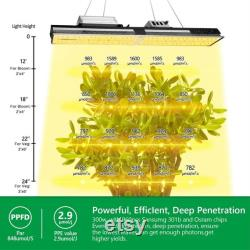 Mars Hydro SP 3000 LED Grow Lights 2x4ft Coverage Samsung LED Full Spectrum Grow Lamp with MeanWell Driver and Daisy Chain Dimmable Veg Flower