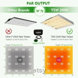 Mars Hydro TSW 2000W LED Grow Light Carbon Filter 4'x4' Grow Tent Complete Kit