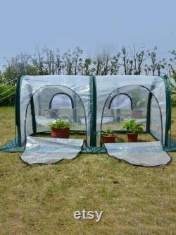 Mini Foldable Greenhouse Mini Pop Up Grow House Garden Indoor Outdoor Backyard Protector Portable Gardening Plant Shelter