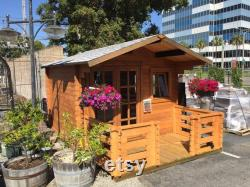 Pre fabricated natural wood storage shed kits can be used as storage sheds, sauna, she shed,pool shed kit.