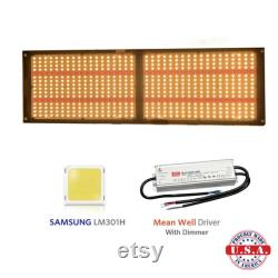 QUANTUM LED Grow Light 250W V3 Samsung LM301H 3500k 660nm with Meanwell HLG driver