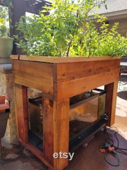 Red Cedar 50 Gallon Aquaponic Raised Planter