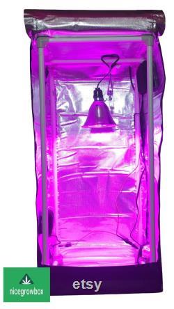 Reflective Hydroponic GrowBox Tent Kit 12 x12 x24 Mylar 50W Led Grow Lights