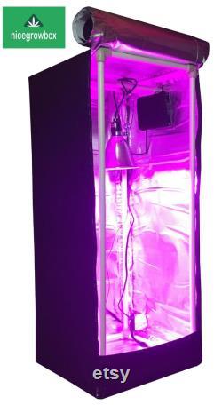 Reflective Hydroponic GrowBox Tent Kit 16 x16 x40 Mylar 100W Led Grow Lights