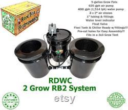 Root Box Hydroponics 2 Grow RB2 RDWC System Recirculating Deep Water Culture DWC