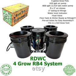 Root Box Hydroponics 4 Grow RB4 RDWC System Recirculating Deep Water Culture DWC