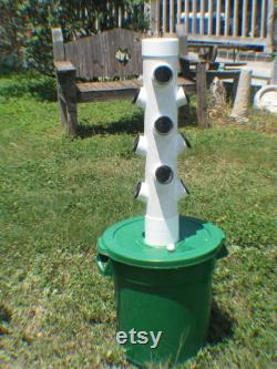 Small Vertical Hydroponic Aeroponic Grow Tower