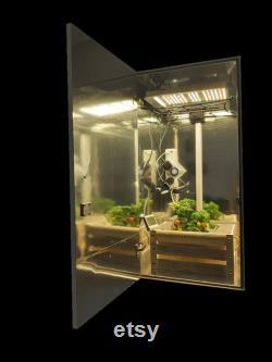 Stealth Grow Box Kit Led 600w Cabinet Pc Grow Box Tent Hydroponics Alternative