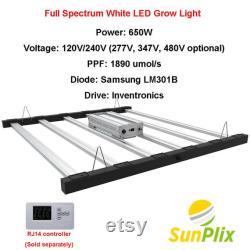SunPlix Full Spectrum White LED Grow Light Replacing Fluence SPYDR, Gavita 1700e