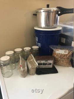 Traditional Bulk Grow Monotub Growkit. Comes With EVERYTHING Needed For Your First 2 Bulk Grows.Step by Step Instructions Included