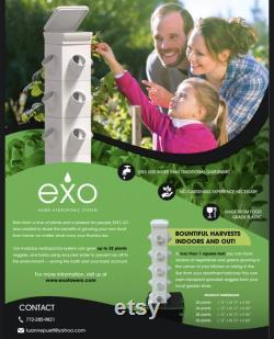 Vertical Hydroponic Garden Tower System Indoor Outdoor Home Grow Kit