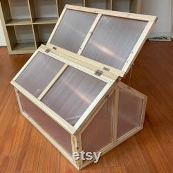 Wooden Cold Frame DIY Hydroponic Greenhouse