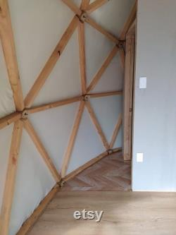 Wooden Dome Structure for Glamping and Hippie Boho Living