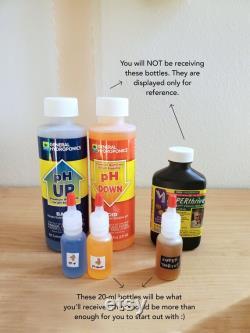 pH up down, Superthrive, Liquidirt starter kit